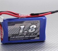 Turnigy 2S 1800mAh 12C Accus de réception Accus