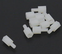 5.6mm x 13mm M3 Nylon fileté Spacer (10pc)