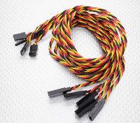Lead Twisted 80cm Servo Extension (JR) 22AWG (5pcs / set)
