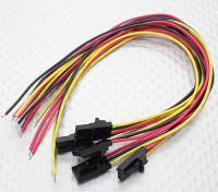 fiche mâle Molex 3 broches avec rouge jaune 20cm / / noir avec du fil PVC 26AWG (5pcs / bag)