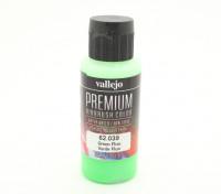 Peinture acrylique de couleur Vallejo Premium - Vert Fluo (60ml)