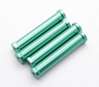 M4 x 60mm CNC en aluminium écarteurs (vert) 4pcs