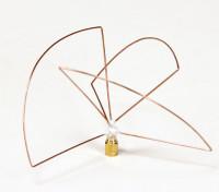 Circulaire 1.2GHz Polarized Antenne de l'émetteur (SMA) (PCG) (Short)
