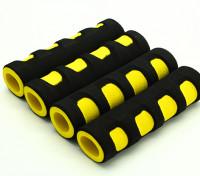 EVA Foam Gimbal Poignée jaune / noir (107x28x18mm) (4pcs)