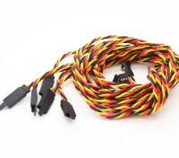 Twisted 100cm Servo Extention Lead (JR) avec crochet 22AWG (5pcs / bag)