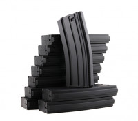 King Arms 120rounds magazines pour les séries Marui M4 / M16 AEG (noir, 10pcs / box)