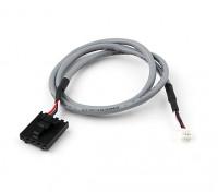 400mm 5 Pin Molex / JR à 4 Plomb Pin Blanc Blindé Connecteur