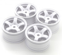 Balayer Mini 5 Spoke Type de roue A - Blanc (4pcs)