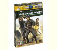 Italeri 1/56 Échelle d'infanterie allemande 1943-1945 (de 12pc) Kit Figure militaire