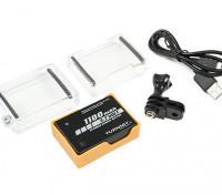 Turnigy 3.7v 1100mah Batterie Backpack Pour GoPro Hero 4 Series