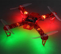 HobbyKing FPV250 V4 Rouge Fantôme Édition LED Night Flyer FPV Quad Copter (Rouge) (Kit)