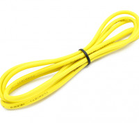 Turnigy haute qualité 16AWG silicone fil 1m (Jaune)