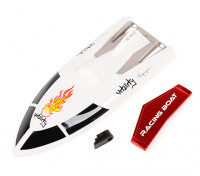 Vitalité FT007 V-Hull Racing Bateau 360mm remplacement Top Cover & Spoiler