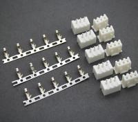 (2S) 3 broches JST-XH Balancer Connecteurs Mâle / Femelle (5 paires)