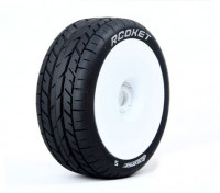 LOUISE B-ROCKET 1/8 échelle Buggy Tires Soft Compound / White Rim / Gendarmerie