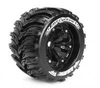 """LOUISE MT-CYCLONE 1/8 Scale Perle style Traxxas 3,8 """"Monster Truck SPORT Composé / Noir Rim"""