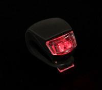 Noir Silicon Mini-lampe (LED rouge)