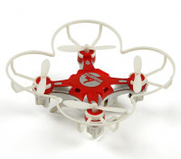 FQ777-124 Pocket Drone 4CH 6Axis Gyro Quadcopter Avec commutable Controller (RTF) (Rouge)