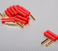 HXT 4mm Gold Connector w / Protector (10pcs / set)