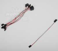 20cm Servo Lead (Futaba) 32AWG Ultra Light (10pcs / set)