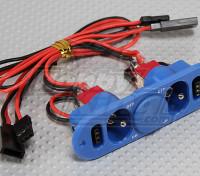 Commutateur lourd Duty RX double avec prise de charge et carburant Dot Bleu