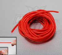 Red 6mm Silicon Rubber Bungee Length: 10m Outside diameter: 6mm Inside diameter: 4 mm