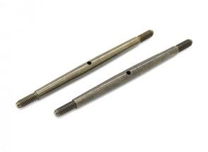 TrackStar 1/8 Spring Steel Turnbuckle M4x80 (2pcs)