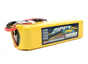 ZIPPY Compact 5000mAh 7S 25C Lipo Pack (Simple balance Tab Version)