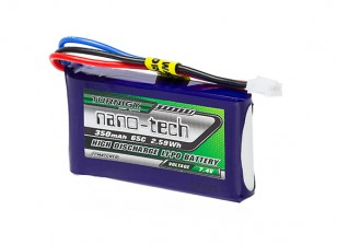 Turnigy nano-tech 350mAh 2S 65C Lipo Pack