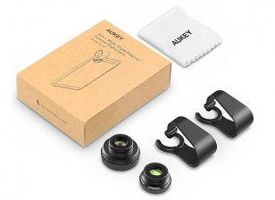 Aukey Optical 3-in-1 Wide Angle/Macro & Fisheye Clip On Smartphone Lens Set (included)