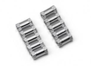 3x10mm alu. poids léger support rond (ruban)