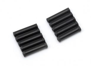 3x24mm alu. poids léger guéridon (noir)