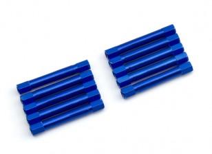 3x37mm alu. poids léger guéridon (bleu)