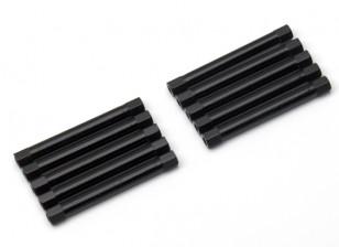 3x45mm alu. poids léger guéridon (noir)