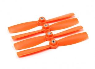 Diatone plastique auto serrage Bull Nez Hélices 5045 (CW / CCW) (Orange) (2 paires)