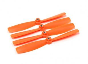 Diatone plastique auto serrage Bull Nez Hélices 6045 (CW / CCW) (Orange) (2 paires)