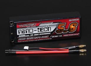 Turnigy nano-tech 5600mAh 2S2P 50 ~ 100C Hardcase Lipo Pack (ROAR APPROUVÉ)
