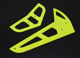 Jaune fluo en fibre de verre horizontal / vertical Fins Trex 450 V1 / V2 / Sport / PRO