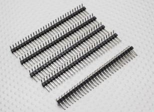 90 degrés Pin Header 1 x 30 Pin 2.54mm Pas (5PCS)