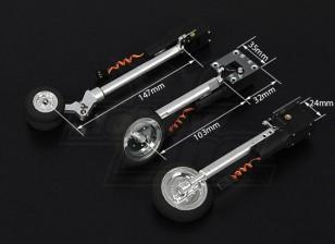 Turnigy DSR 0.60 classe Tricycle système Retract 90 degrés de rotation de transmission principale (Mig style 29)