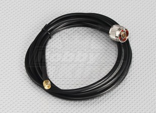câble de raccordement RG58 SMA mâle à mâle N (2 mètres)