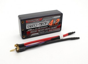 Turnigy nano-tech Shorty 4200mAh 2S2P 65 ~ 130C Hardcase Lipo Pack (ROAR APPROUVÉ)