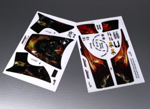 Auto-adhésif Decal Sheet - JSRacing 1/10 Échelle