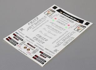 Auto-adhésif Decal Sheet - Saito Daigo FD 1/10 Échelle