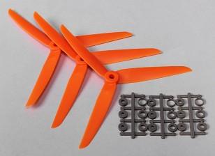 HobbyKing ™ 3-Blade Hélice 7x3.5 Orange (CCW) (3pcs)