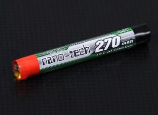 Turnigy nano-tech 270mAh cellulaire 1S 15C Round