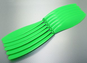 GWS EP hélice (RD-1510 381X254mm) Green (6pcs / set)