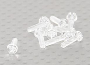 Transparent Vis en polycarbonate M3x10mm - 10pcs / bag