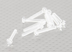 Transparent Vis en polycarbonate M3x20mm - 10pcs / bag