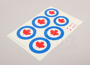 Échelle National Air Force Insignia Decal Sheet - Canada